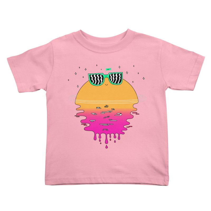 Happy Sunset Kids Toddler T-Shirt by Porky Roebuck