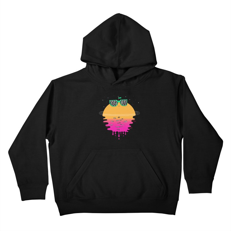 Happy Sunset Kids Pullover Hoody by Porky Roebuck