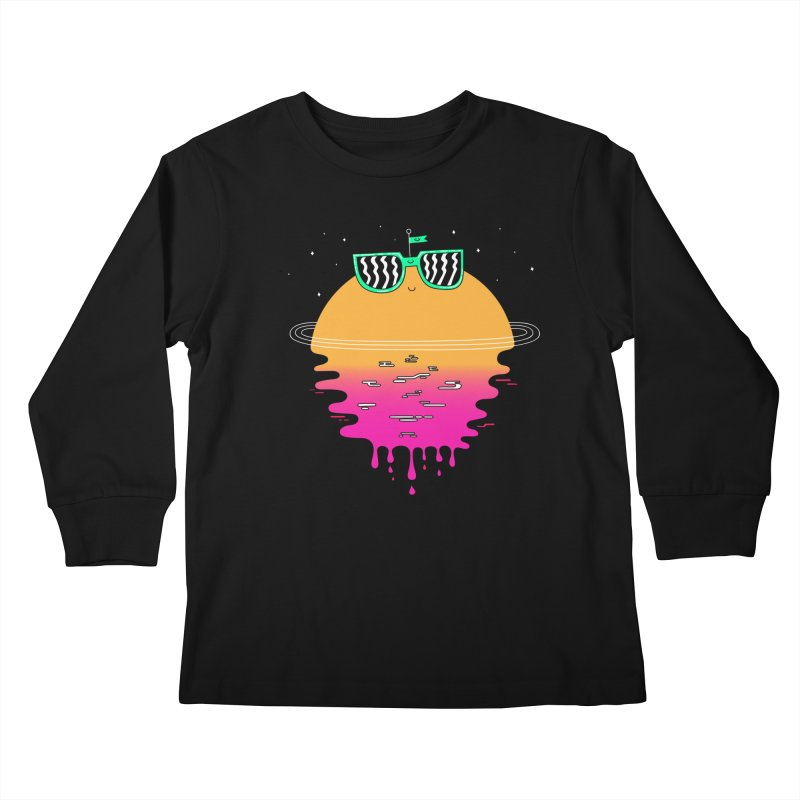 Happy Sunset Kids Longsleeve T-Shirt by Porky Roebuck