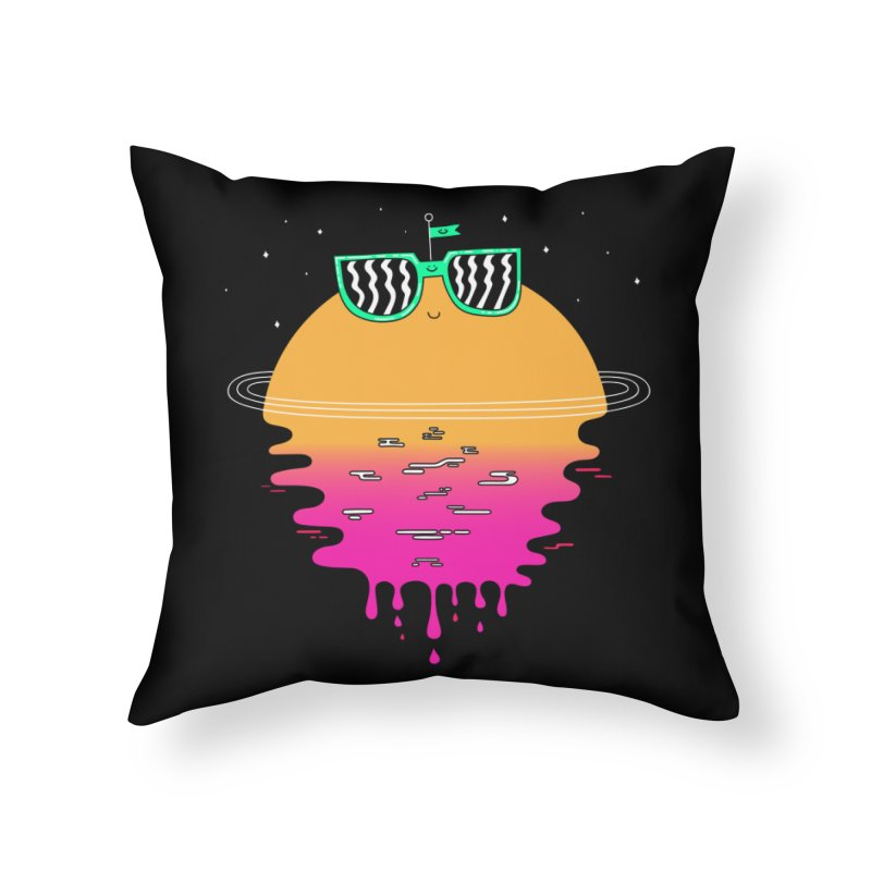 Happy Sunset Home Throw Pillow by Porky Roebuck