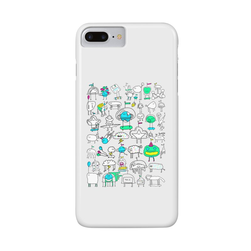 Happy Creatures Accessories Phone Case by Porky Roebuck