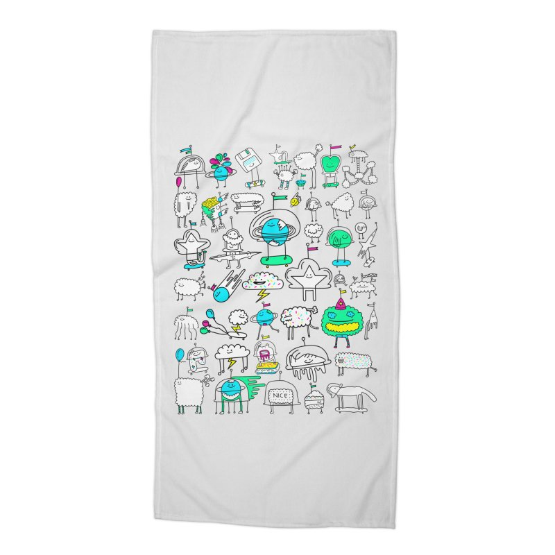 Happy Creatures Accessories Beach Towel by Porky Roebuck