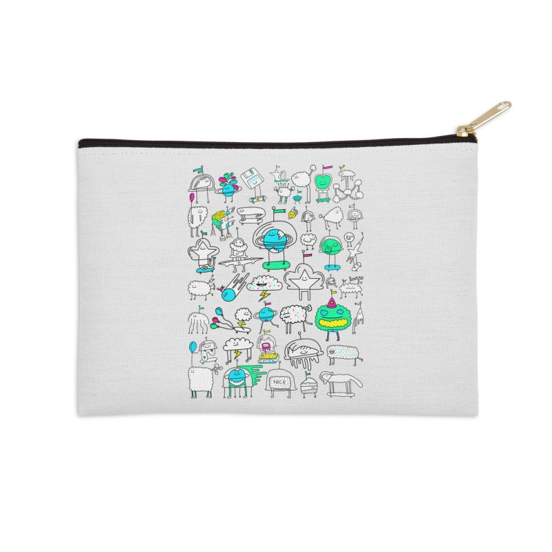 Happy Creatures Accessories Zip Pouch by Porky Roebuck