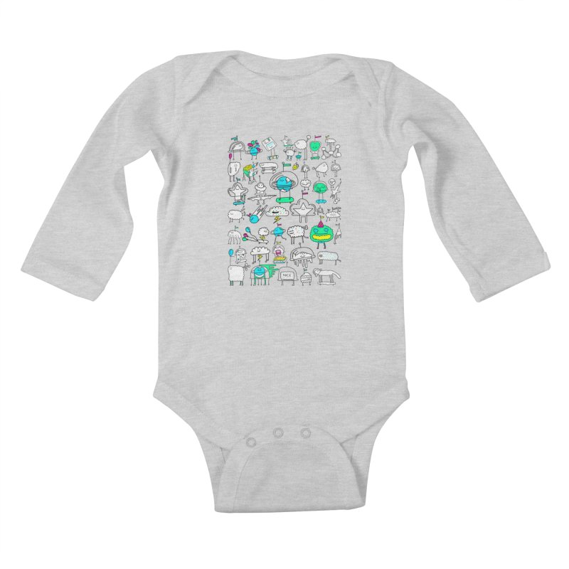 Happy Creatures Kids Baby Longsleeve Bodysuit by Porky Roebuck