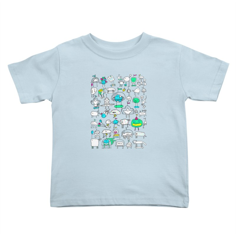 Happy Creatures Kids Toddler T-Shirt by Porky Roebuck