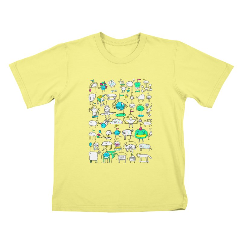 Happy Creatures Kids T-shirt by Porky Roebuck