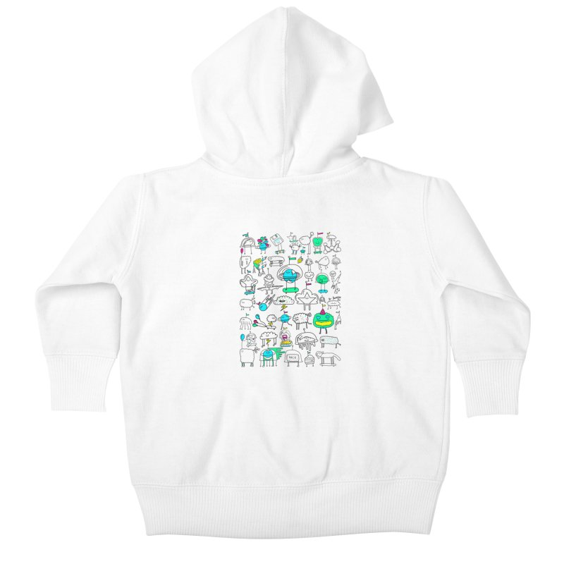 Happy Creatures Kids Baby Zip-Up Hoody by Porky Roebuck