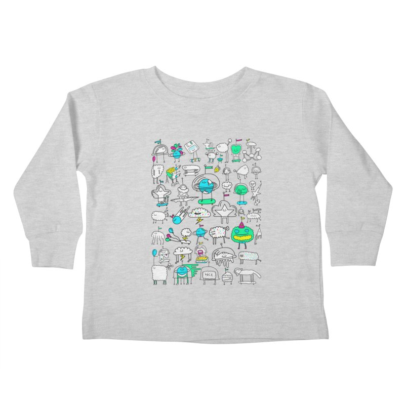 Happy Creatures Kids Toddler Longsleeve T-Shirt by Porky Roebuck