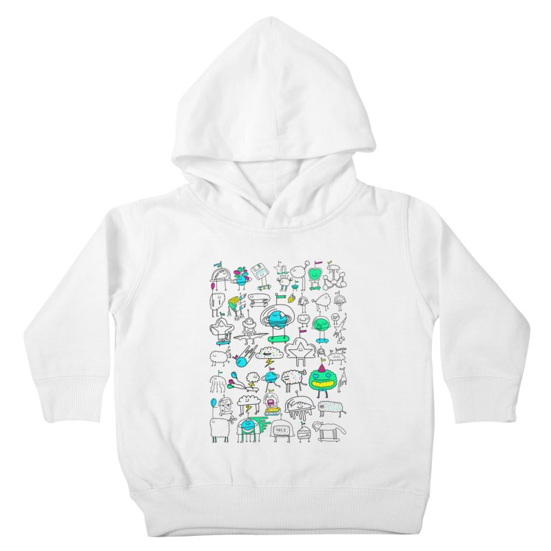 Happy Creatures Kids Toddler Pullover Hoody by Porky Roebuck