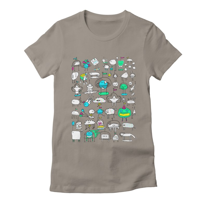 Happy Creatures Women's Fitted T-Shirt by Porky Roebuck