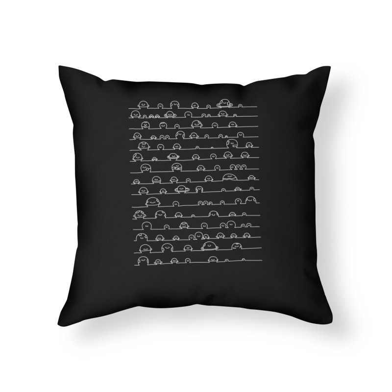 Happy Solar System Home Throw Pillow by Porky Roebuck