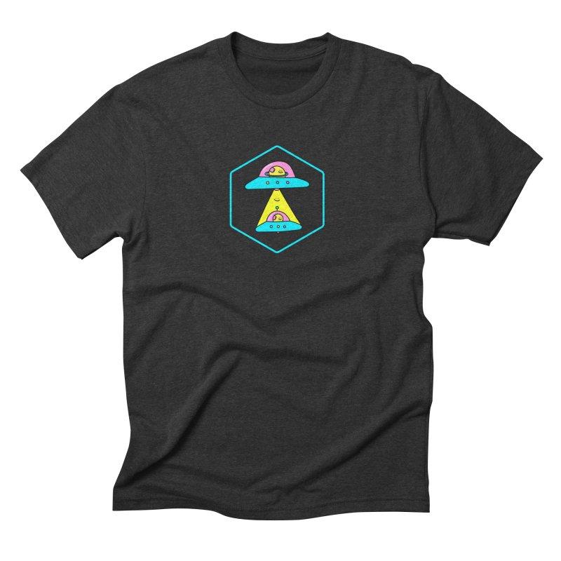 UFO Time Men's Triblend T-shirt by Porky Roebuck