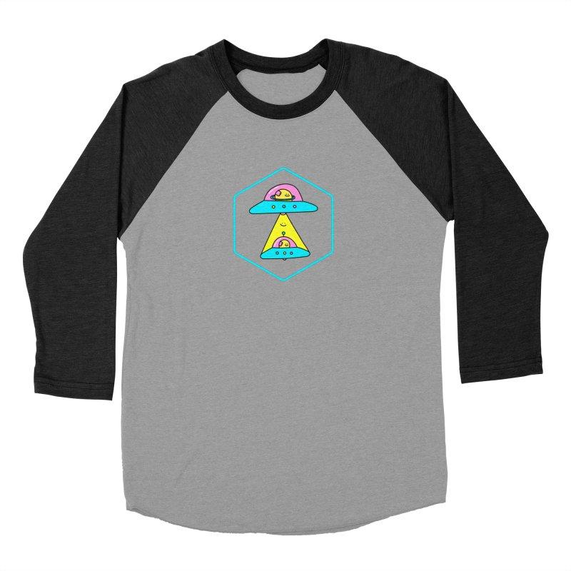UFO Time Men's Baseball Triblend T-Shirt by Porky Roebuck