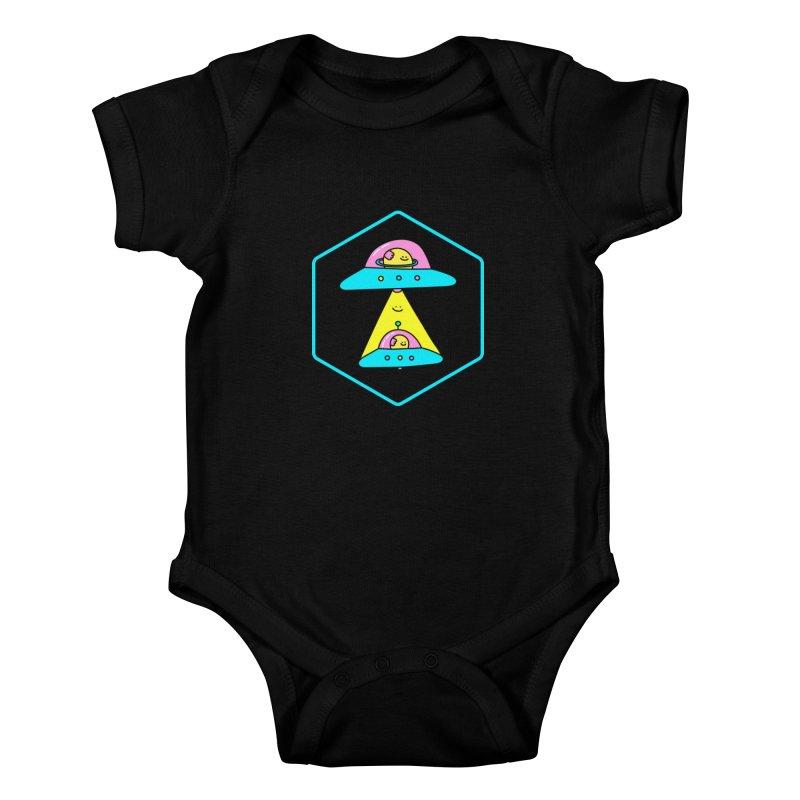 UFO Time Kids Baby Bodysuit by Porky Roebuck