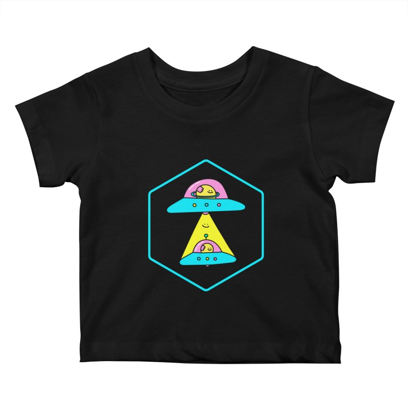 UFO Time Kids Baby T-Shirt by Porky Roebuck