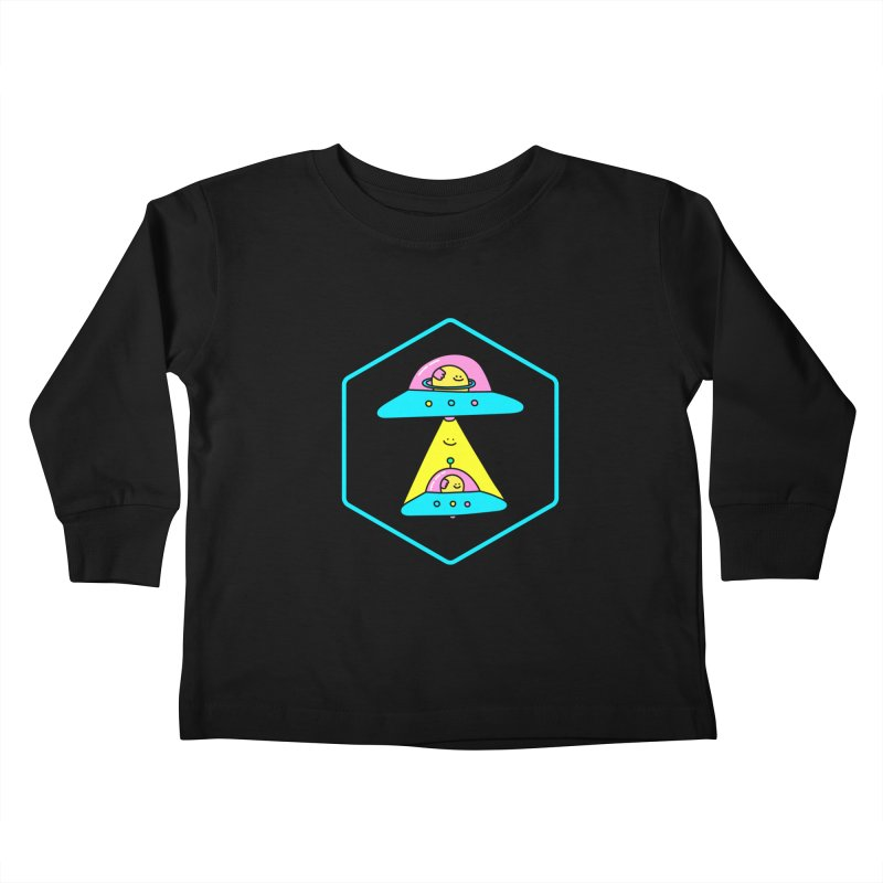 UFO Time Kids Toddler Longsleeve T-Shirt by Porky Roebuck