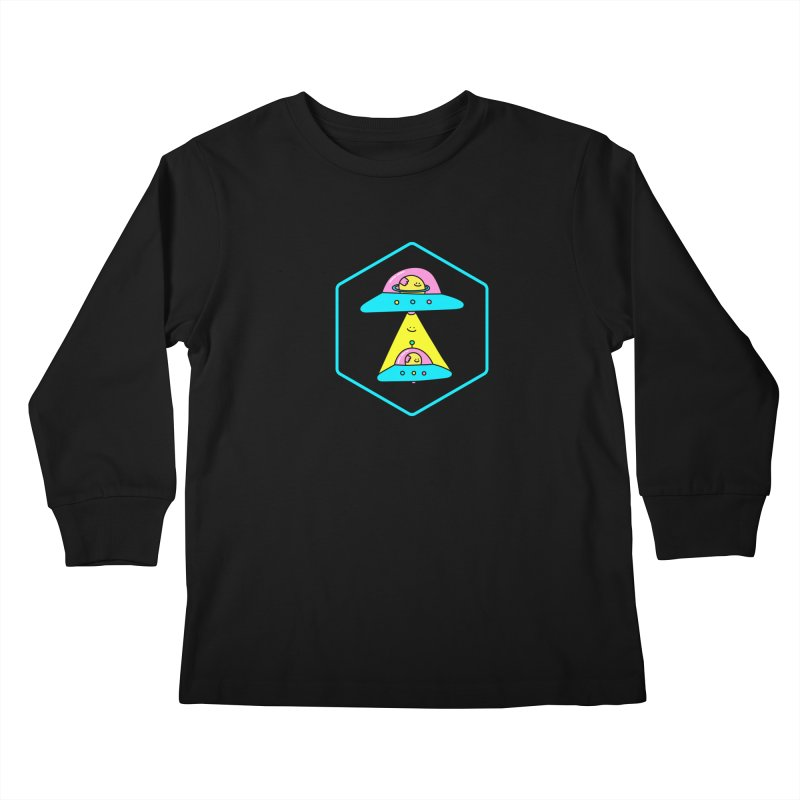 UFO Time Kids Longsleeve T-Shirt by Porky Roebuck