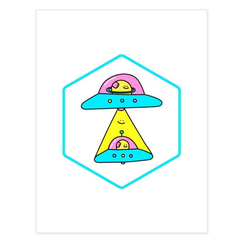 UFO Time Home Fine Art Print by Porky Roebuck