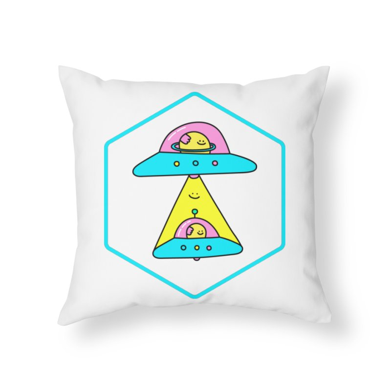 UFO Time Home Throw Pillow by Porky Roebuck