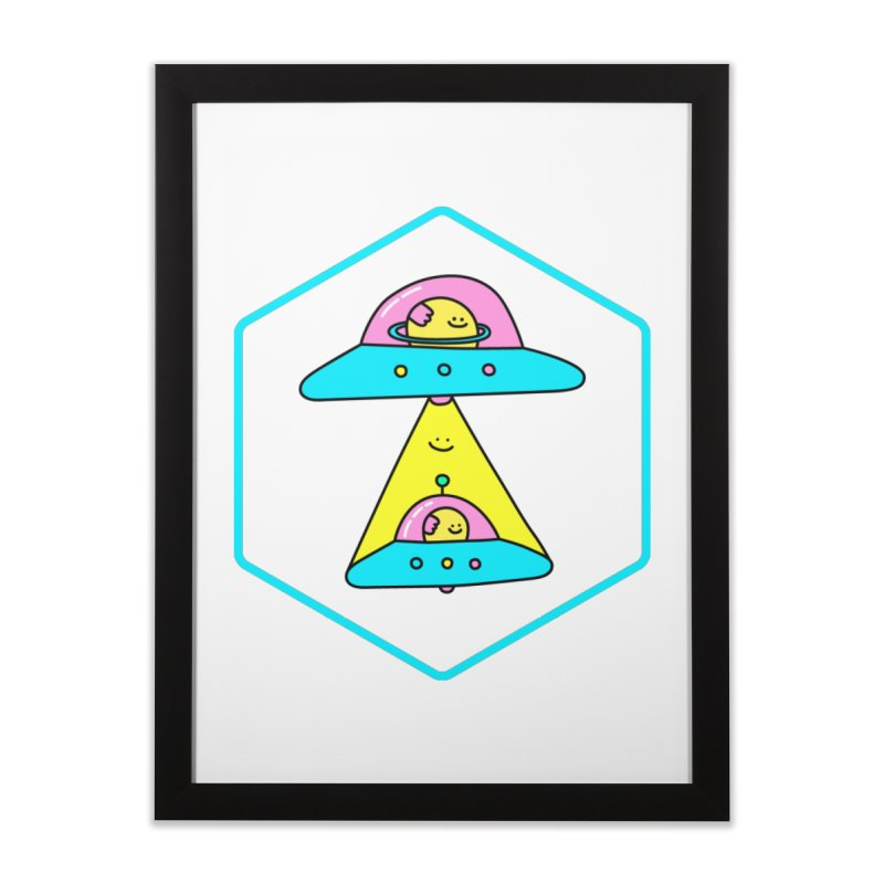 UFO Time Home Framed Fine Art Print by Porky Roebuck