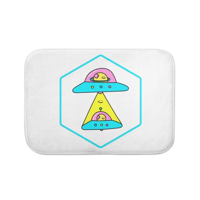 UFO Time Home Bath Mat by Porky Roebuck