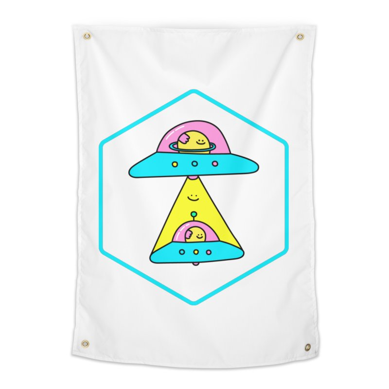 UFO Time Home Tapestry by Porky Roebuck