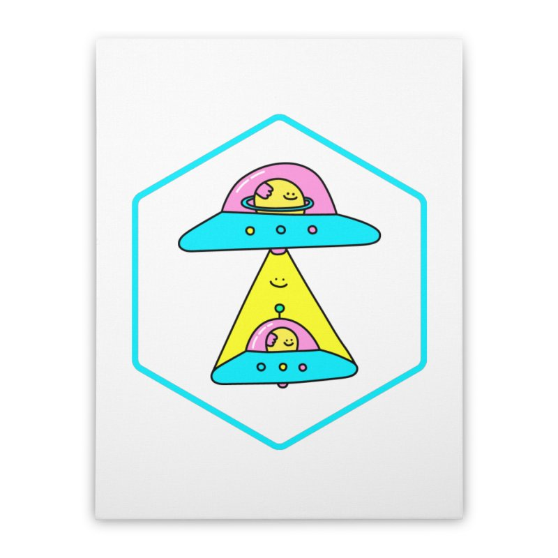 UFO Time Home Stretched Canvas by Porky Roebuck