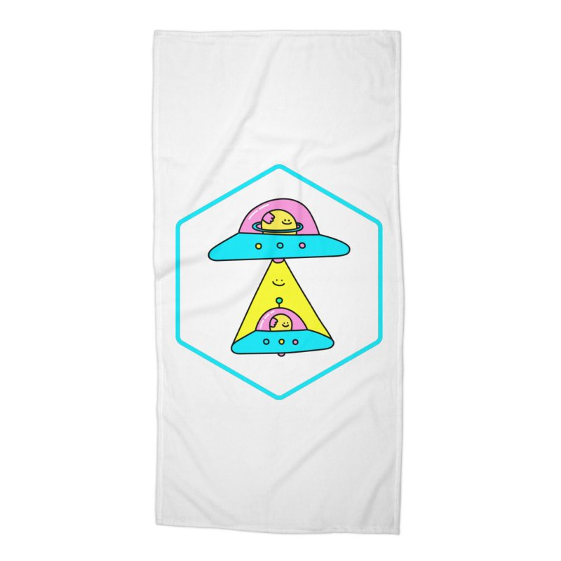 UFO Time Accessories Beach Towel by Porky Roebuck