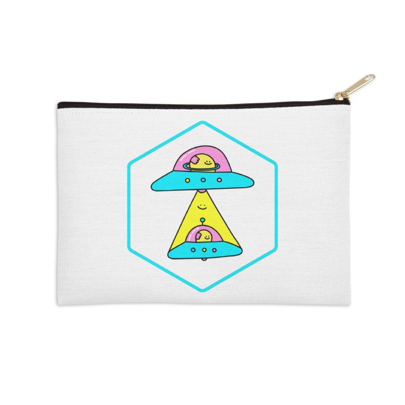 UFO Time Accessories Zip Pouch by Porky Roebuck