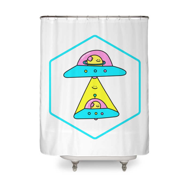 UFO Time Home Shower Curtain by Porky Roebuck