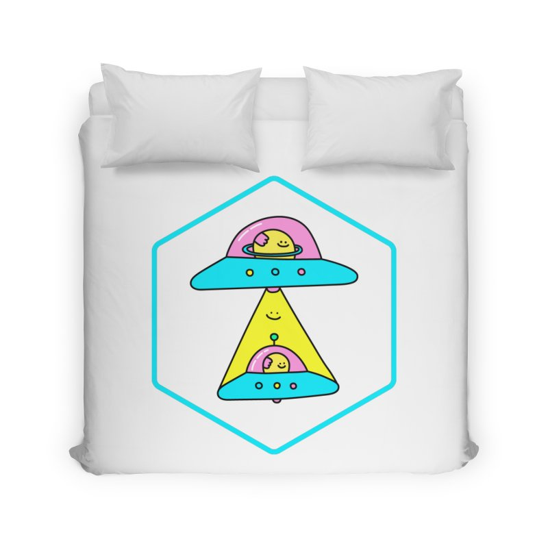 UFO Time Home Duvet by Porky Roebuck