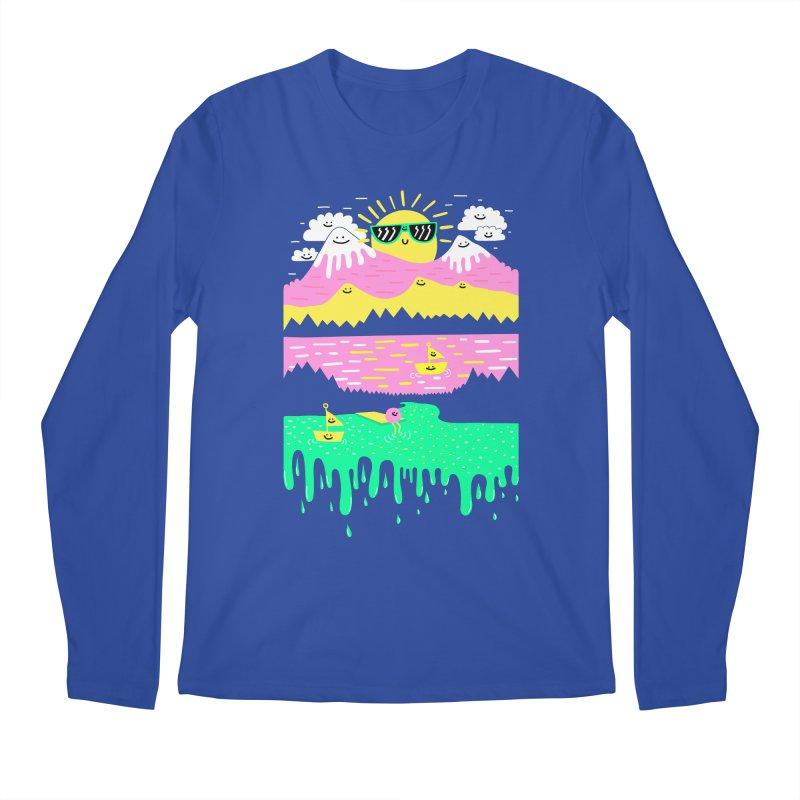 Happy Lake Men's Longsleeve T-Shirt by Porky Roebuck