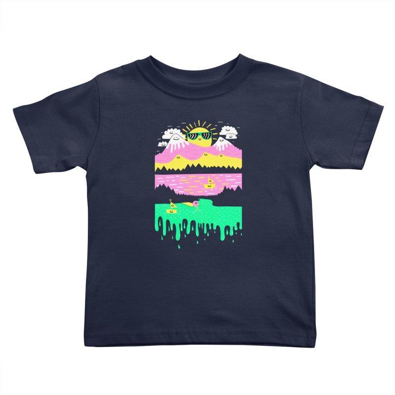 Happy Lake Kids Toddler T-Shirt by Porky Roebuck