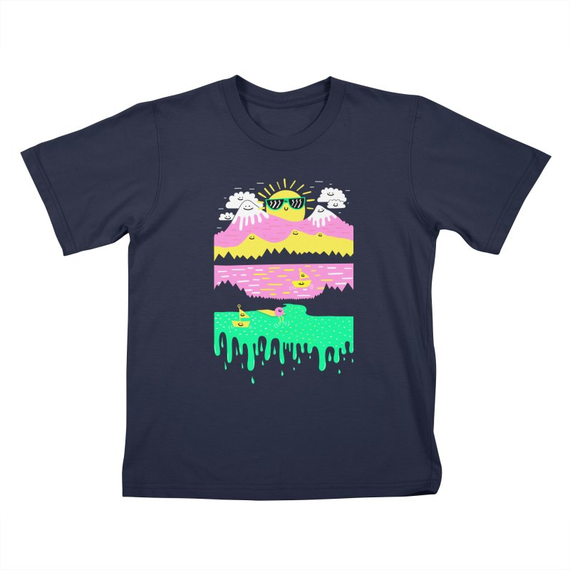 Happy Lake Kids T-shirt by Porky Roebuck
