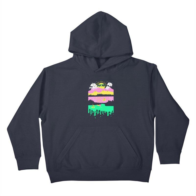 Happy Lake Kids Pullover Hoody by Porky Roebuck