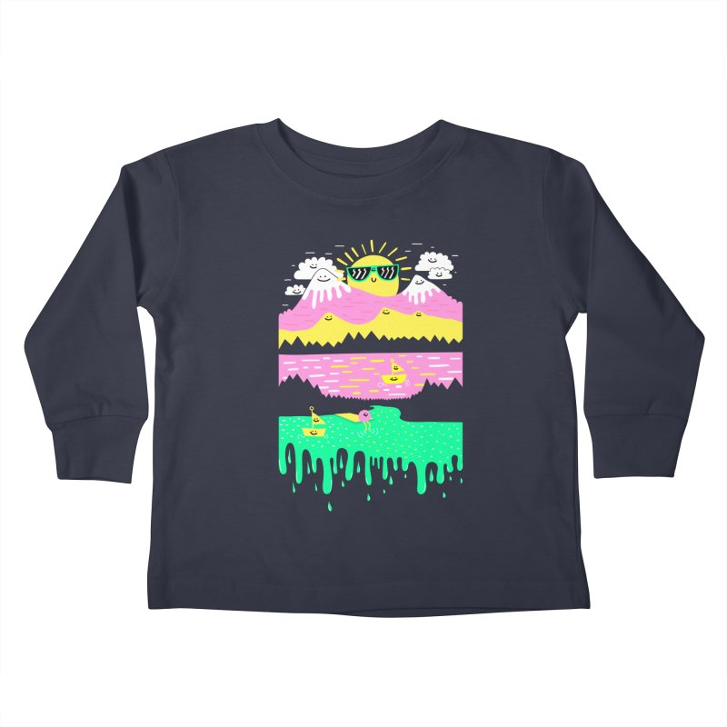 Happy Lake Kids Toddler Longsleeve T-Shirt by Porky Roebuck