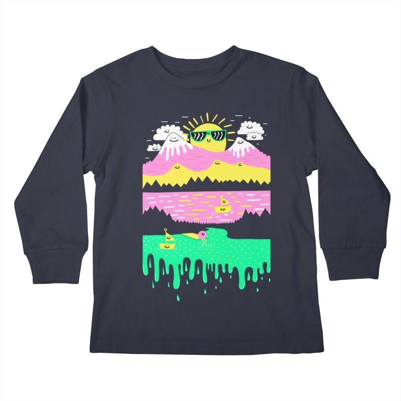 Happy Lake Kids Longsleeve T-Shirt by Porky Roebuck