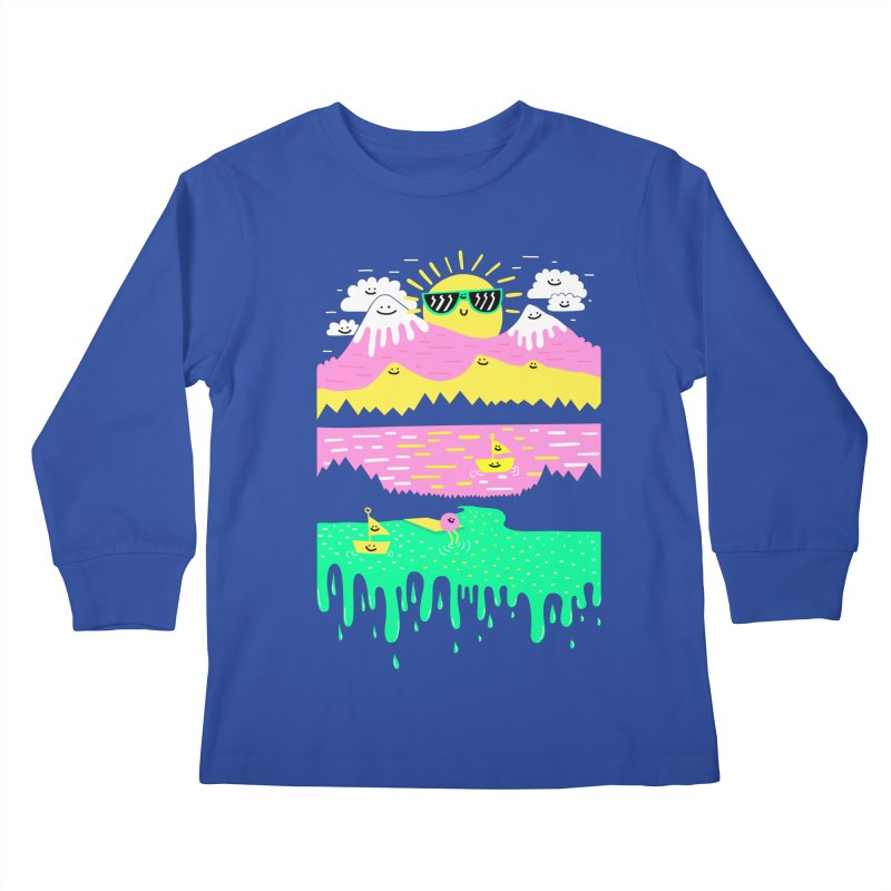 Happy Lake Kids Longsleeve T-Shirt by Porky Roebuck