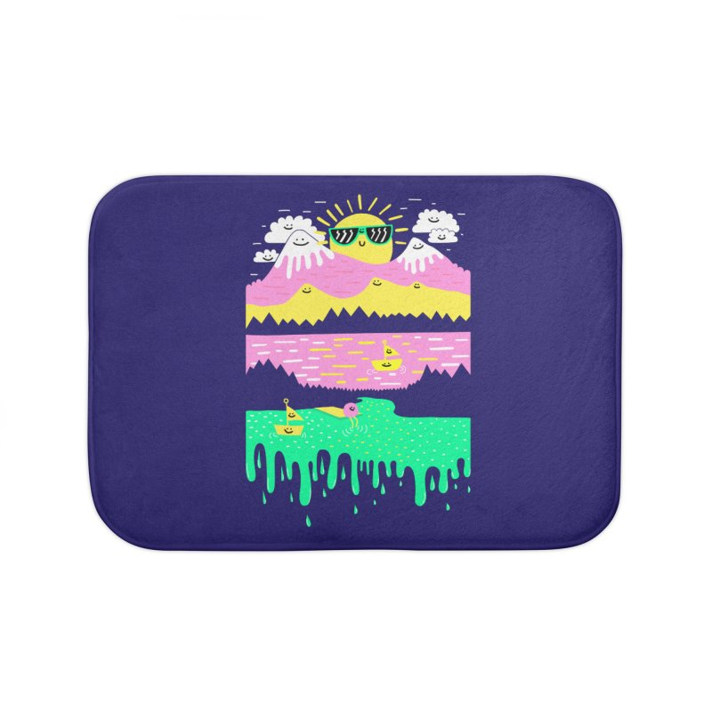 Happy Lake Home Bath Mat by Porky Roebuck