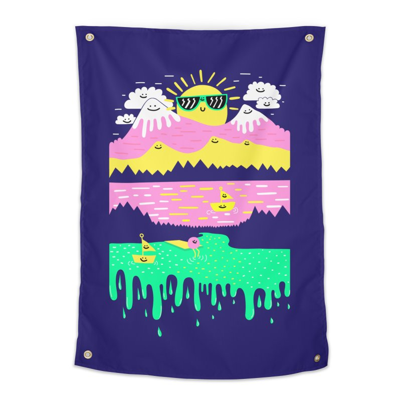 Happy Lake Home Tapestry by Porky Roebuck