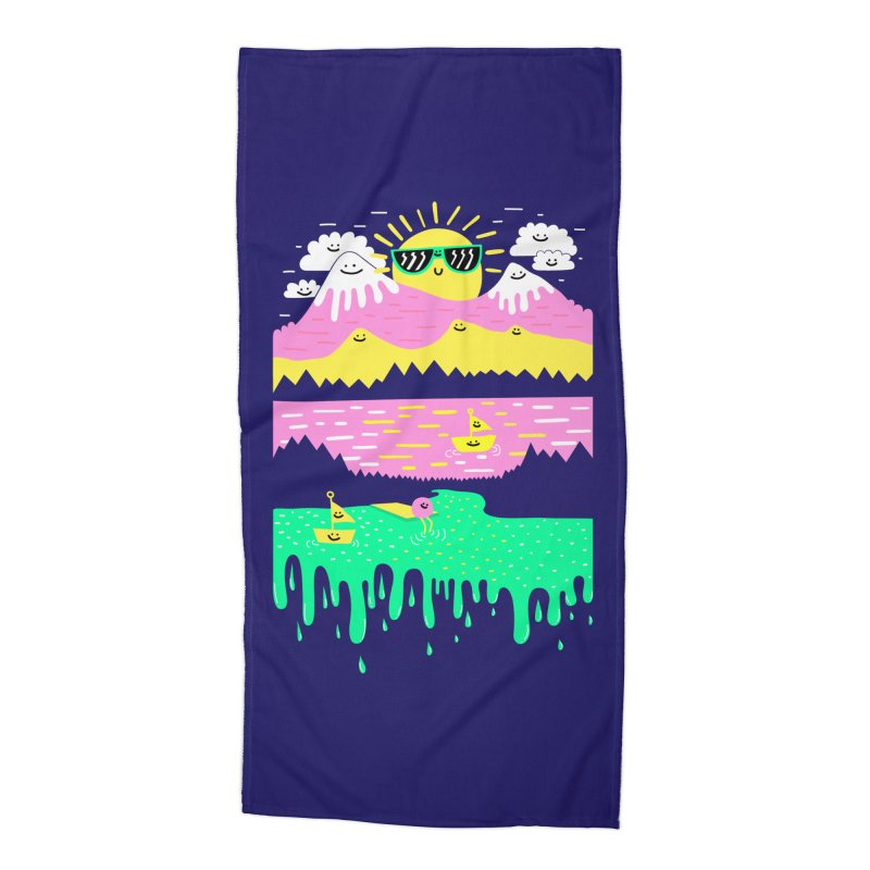 Happy Lake Accessories Beach Towel by Porky Roebuck