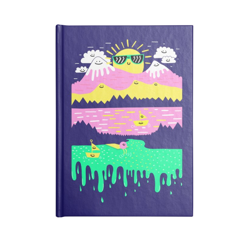 Happy Lake Accessories Notebook by Porky Roebuck
