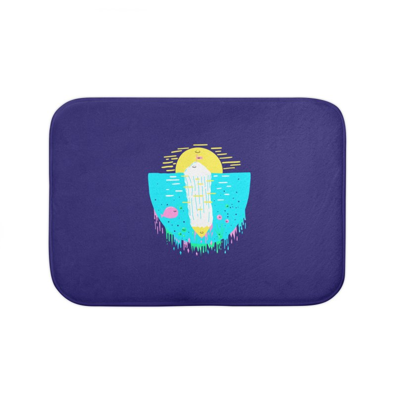 Happy Iceberg Home Bath Mat by Porky Roebuck