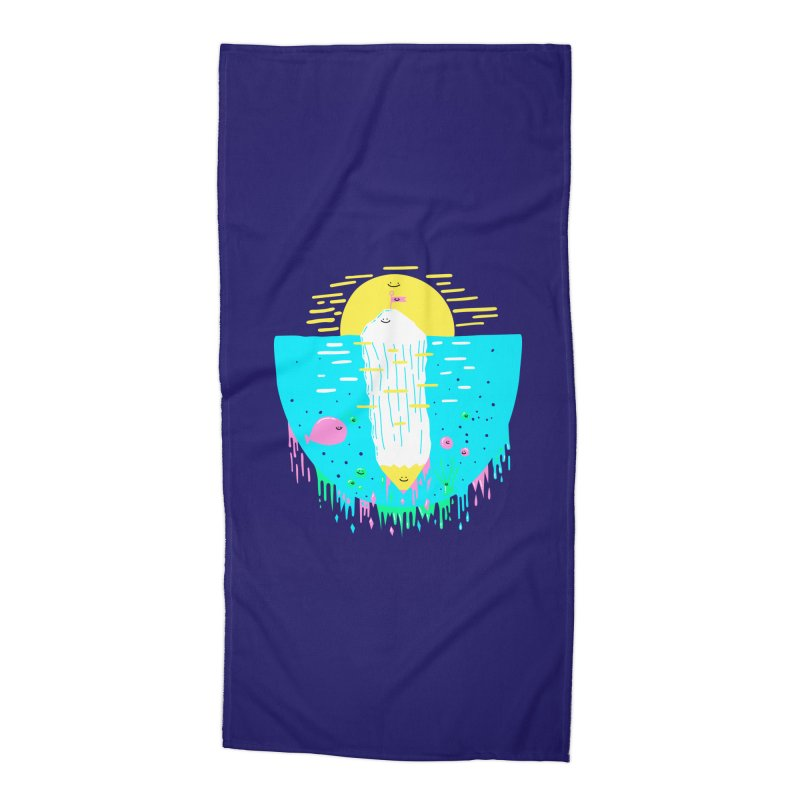 Happy Iceberg Accessories Beach Towel by Porky Roebuck