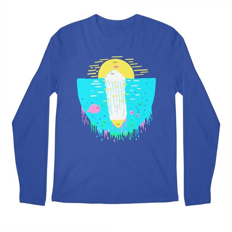Happy Iceberg Men's Longsleeve T-Shirt by Porky Roebuck