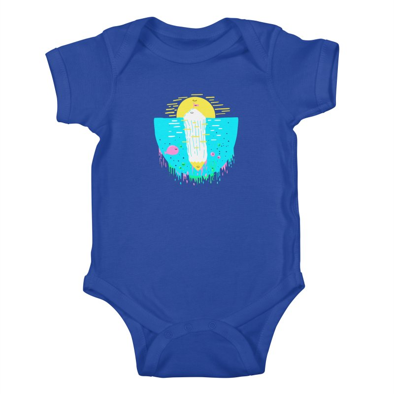 Happy Iceberg Kids Baby Bodysuit by Porky Roebuck
