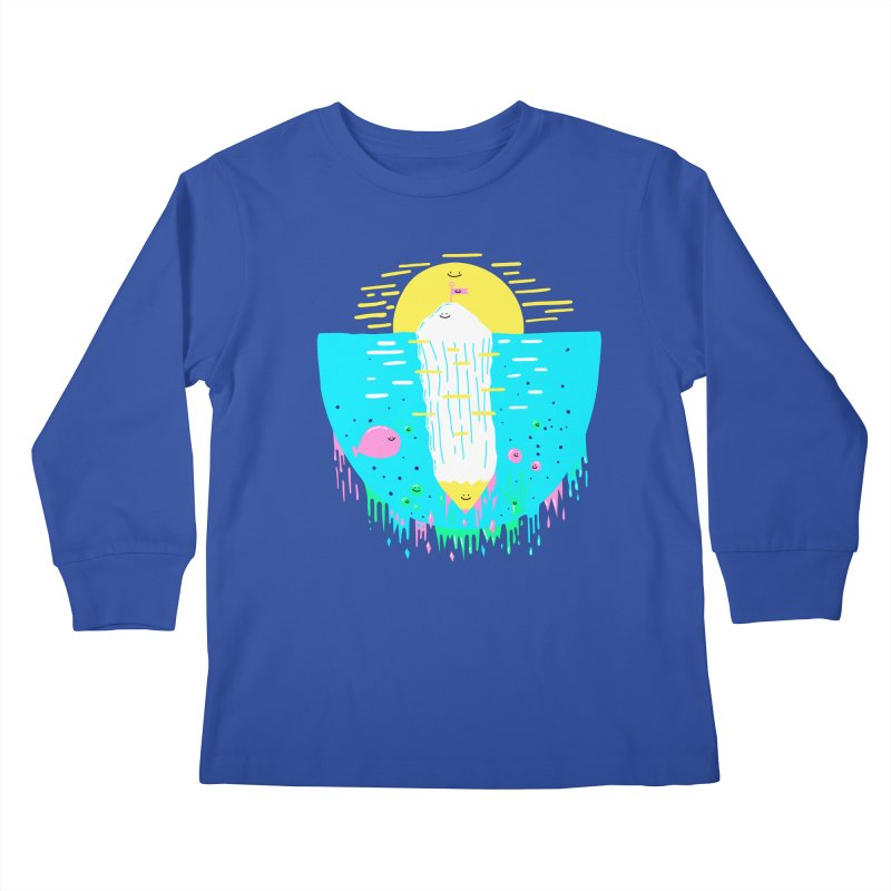 Happy Iceberg Kids Longsleeve T-Shirt by Porky Roebuck