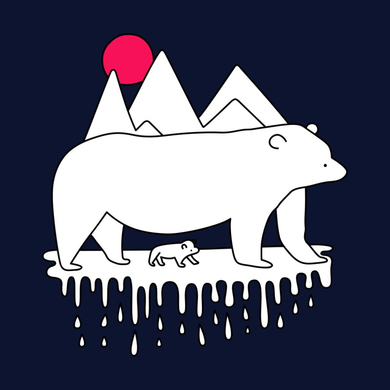 Polar Bear Family by Porky Roebuck