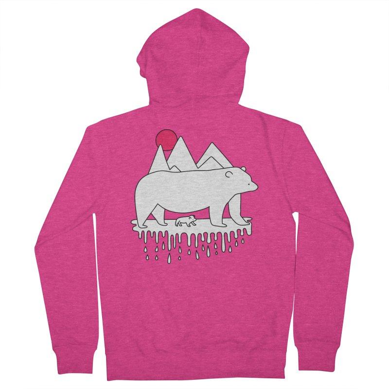 Polar Bear Family Women's Zip-Up Hoody by Porky Roebuck