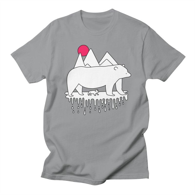 Polar Bear Family Men's T-shirt by Porky Roebuck